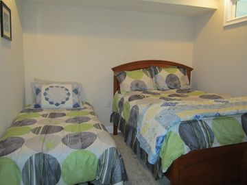 another view of 3rd bedroom with full and twin bed