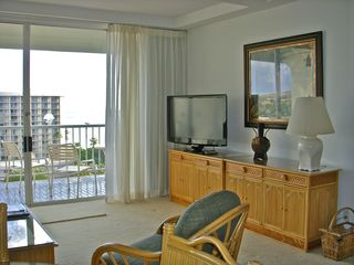 Lahaina condo photo - Living Room TV and Ocean View
