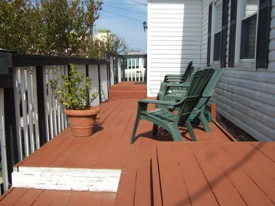 Front deck of main house