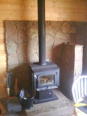 Grand Canyon cabin photo - Wood burning stove