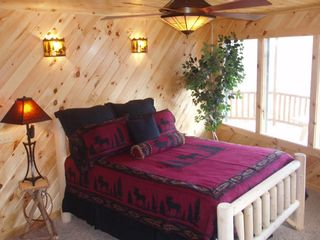 Lake Nantahala lodge photo - View of Red Moose Bedroom on lower level