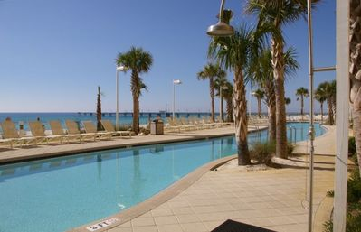 Calypso 175 foot beachfront West Tower pool