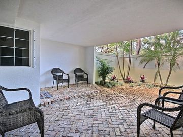 Key Largo townhome rental - Private, gated, brick patio as you enter property.