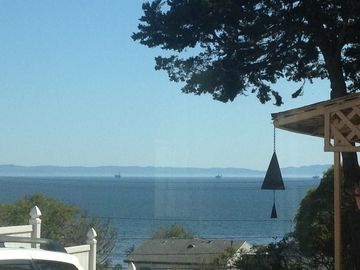 Summerland house rental - View from living room, kitchen and dining area. Nice Ocean Breeze.