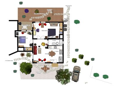 Casita Floor Plan - See our main website for larger scale photo.