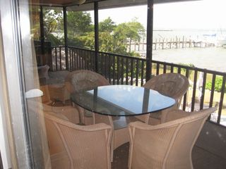 Marathon house photo - .Dining on the Balcony Overlooking the Water