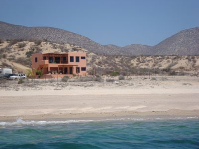 La Ventana villa rental - House from water