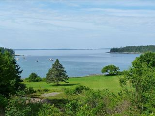 West Tremont cottage photo - Enjoy This Panoramic View of Goose Cove and the Islands of Blue Hill Bay