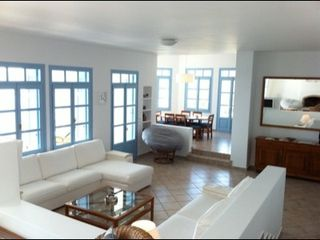 Andros villa photo - Living room area & dining area level