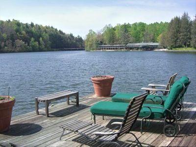 Flat Rock house rental - View of Camp Mondamin from dock