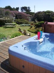 spa garden view - Mendocino house vacation rental photo