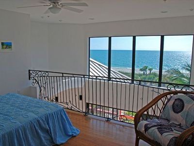 Loft Bedroom offers Queen Bed and fantastic vies of Gulf.