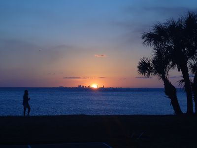Enjoy amazing sunsets over Tampa Bay