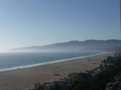 View of Malibu from Apt. Cross the street from the apt and you are on the beach.