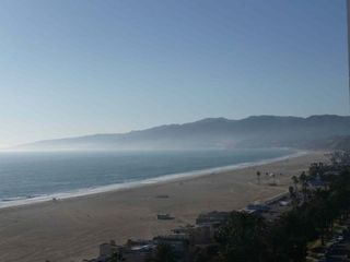 Santa Monica apartment rental - View of Malibu from Apt. Cross the street from the apt and you are on the beach.