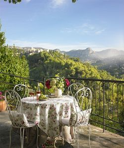 St-Paul-de-Vence villa rental - Wonderful view of St Paul, the mountains & valley from the terrace of the villa