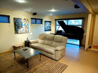 Media Room with Piano