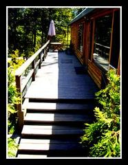 Twain Harte cabin photo - Front Deck, few steps to front door, Flat driveway, RV and boat Parking