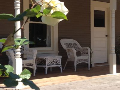 Front porch with country charm