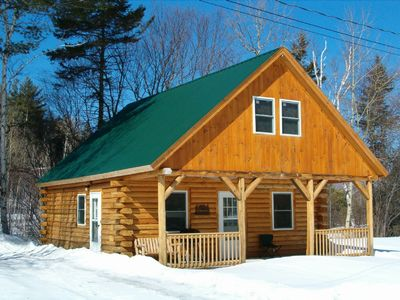Handcrafted log cabin in bretton woods twin mtn area for Ski cabins in new hampshire