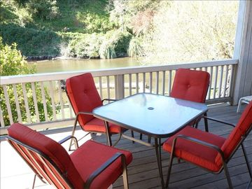 Capitola house rental - 2nd floor deck with great view of the creek!