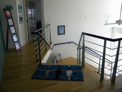 Stair down from living area