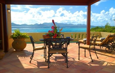 Breathtaking ocean views from Pool Terrace of French St. Martin