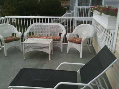 Closeup of right side of King Bedroom Deck (overlooks water)