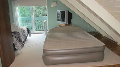 Upstair bedroom/loft with extra airbed