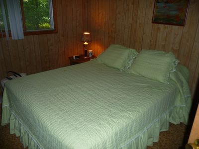 Sanbornton cottage rental - Master Bedroom with Queen Size bed