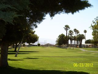 Thousand Palms house photo - Start your golf day on #1 .. five minutes from your house by golf cart.