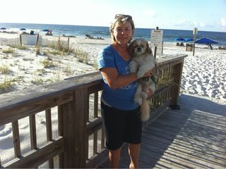 Gulf Shores condo photo - Steps from the Beach!!! Jan & Mulligan pictured. Jan is the one on the left.