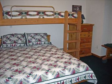 Queen Bed with Twin Bunk in 2nd Lower Level Bedroom