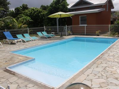 # GUADELOUPE Bed comfortable, quiet with pool & wifi € 350 / week