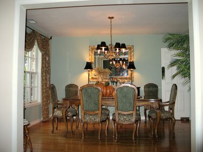 The dining room with expandable table. We have comfortably seated 12