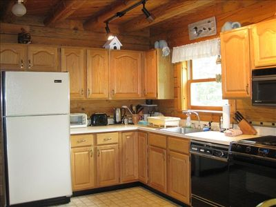Saranac Lake house rental - Full sized kitchen with modern appliances