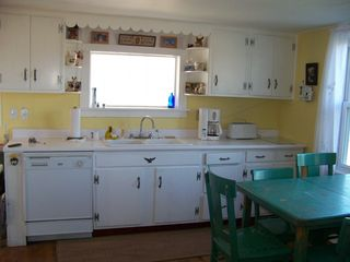Lost River farmhouse photo - Fully equipped country kitchen w awesome view