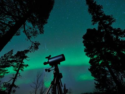 Explore the night skies with a 300x magnifier Celestron telescope