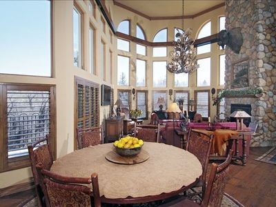Breathtaking panoramic valley/ water front views, walkout to patio