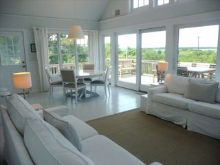 Amagansett cottage photo - Matching sofas great for lounging