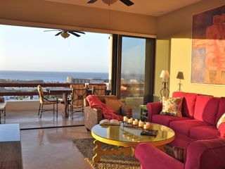 San Jose del Cabo condo photo - Open doors, indoor-outdoor living. Morning sunlight, afternoon shade.