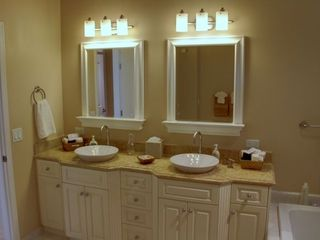 Pebble Beach house photo - Luxurious master bath has dual sinks.