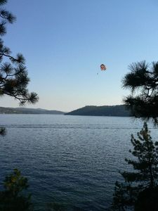 Parasailing on Lake Coeur d' Alene