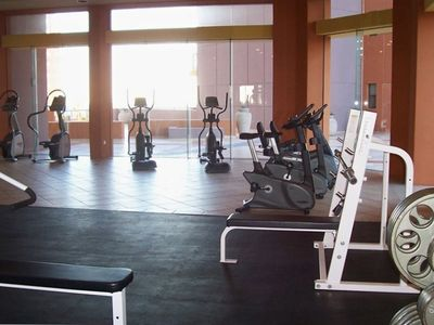 Get a great workout while you enjoy the gorgeous sea and beach views.