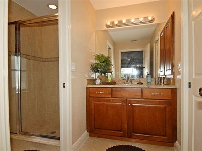 Master bath, walk in closet at right.