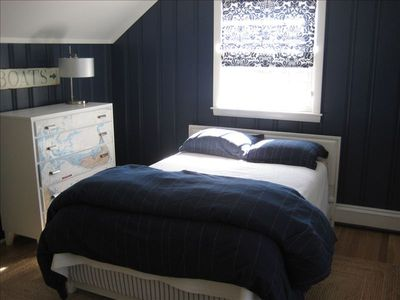 The upstairs kid's bedroom--the full-sized bed