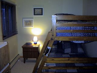 Campton house photo - Lower level bedroom with full/twin bunk bed.