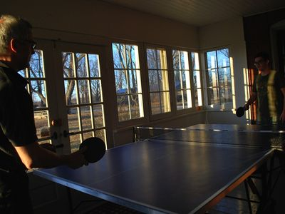 game time - indoor/outdoor table tennis table just in from Germany!