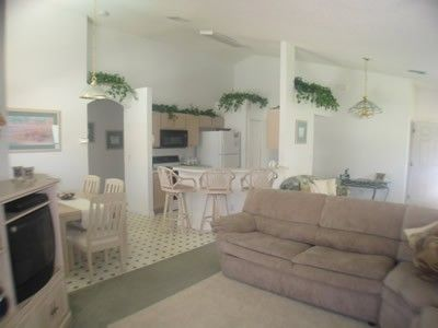 Haines City villa rental - Living area showing kitchen area