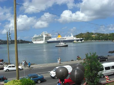 Cruise ships in Castries